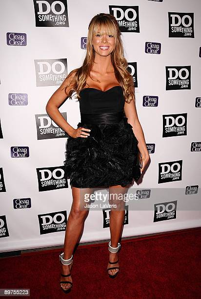 Actress Leah Renee Cudmore attends DoSomethingorg's Power of Youth event at Madame Tussauds on August 8 2009 in Hollywood California
