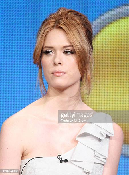 Actress Leah Renee speaks during 'The Playboy Club ' panel during the NBC Universal portion of the 2011 Summer TCA Tour held at the Beverly Hilton...