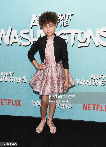 Actress Leah Rose Randall arrives at a screening of Netflix's 'All About The Washingtons' at Madera Kitchen Bar on August 8 2018 in Hollywood...