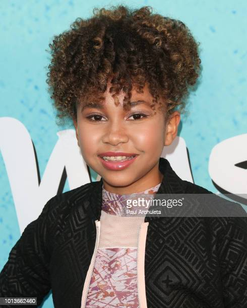 Actress Leah Rose Randall attends the screening of Netflix's 'All About The Washingtons' at Madera Kitchen Bar on August 8 2018 in Hollywood...
