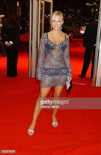 Actress Leanne Wilson arrives at the UK Premiere of Shall We Dance at the Odeon West End on February 16 2005 in London