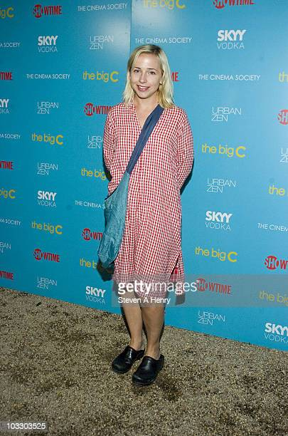 Actress Lecy Goranson attends the Showtime with The Cinema Society screening of The Big C at a Private Residence on August 7 2010 in East Hampton New...