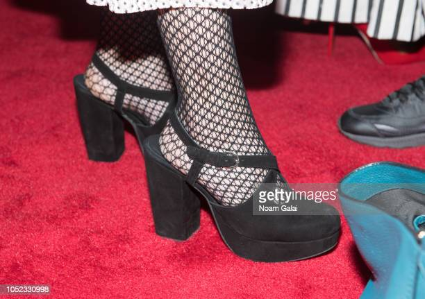 Actress Lecy Goranson shoe detail attends The Conners premiere at the 2018 Paleyfest NY at The Paley Center for Media on October 16 2018 in New York...
