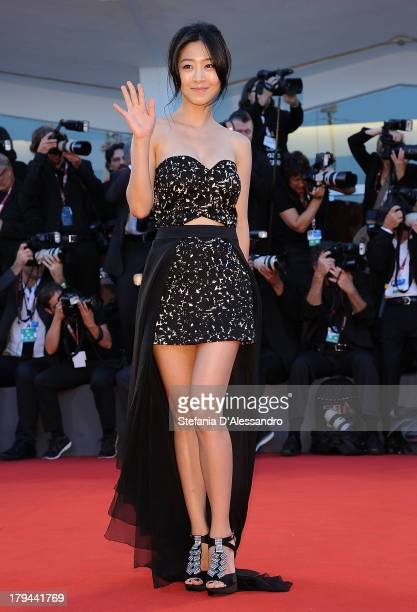 Actress Lee Eunwoo attends 'Moebius' Premiere during the 70th Venice International Film Festival at Palazzo del Casino on September 3 2013 in Venice...