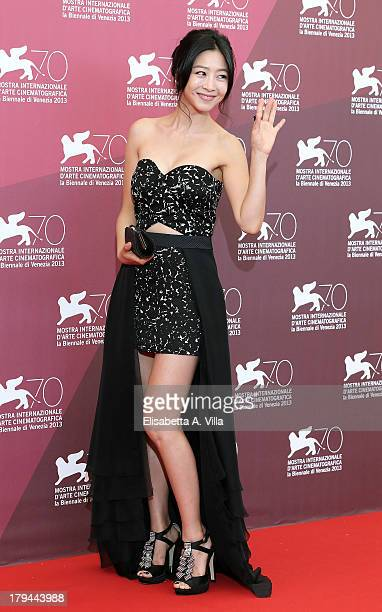 Actress Lee EunWoo attends the 'Moebius' Photocall during the 70th Venice International Film Festival at Sala Grande on September 3 2013 in Venice...