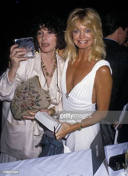 Actress Lee Grant and actress Goldie Hawn attend the 12th Annual Women in Film Crystal Awards on June 3 1988 at Century Plaza Hotel in Los Angeles...