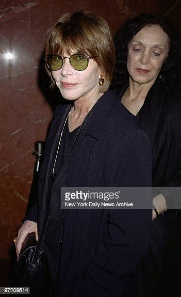 Actress Lee Grant arrives for a screening of the cable movie Sister Mary Explains It All at the DGA Theater on W 57th St