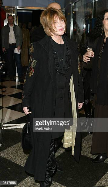 Actress Lee Grant attends the VIP screening of the Sony Pictures Classics film The Company at the Paris Theatre December 16 2003 in New York City