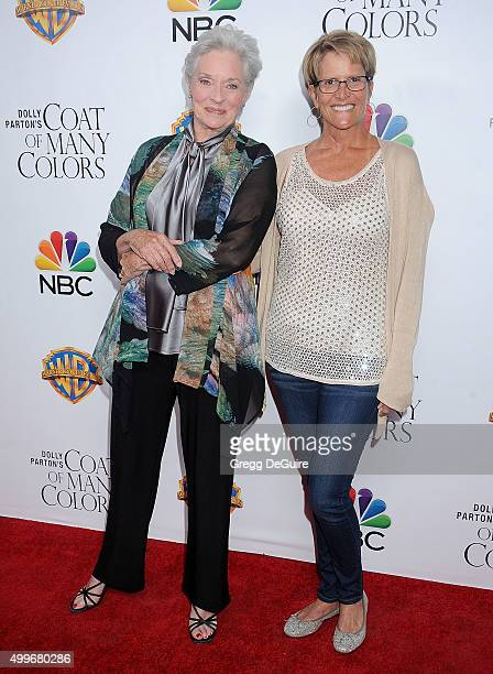 Actress Lee Meriwether and daughter arrive at the premiere of Warner Bros Television's Dolly Parton's Coat Of Many Colors at the Egyptian Theatre on...