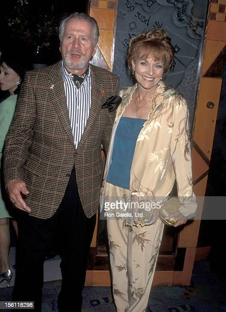 Actress Lee Meriwether and husband Marshall Borden attend a 'Party for Ivana Trump Hosted by Nikki Haskell' on November 1 1995 at Spago in West...