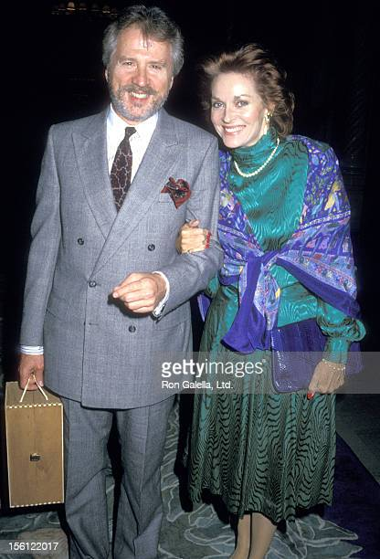Actress Lee Meriwether and husband Marshall Borden attend the 25th Anniversary Celebration of the Theatre West Orgazination on October 17 1987 at...