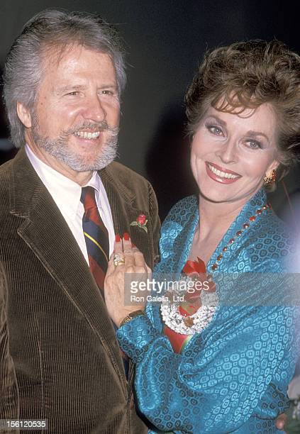 Actress Lee Meriwether and husband Marshall Borden attend the 57th Annual Hollywood Christmas Parade on November 27 1988 at KTLA Studios in Hollywood...