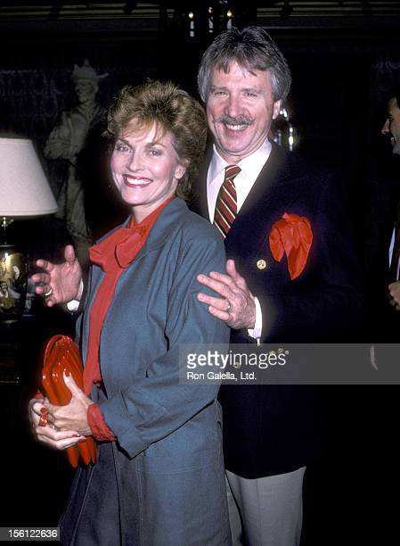 Actress Lee Meriwether and husband Marshall Borden attend the 'Cerebral Palsy Benefit' on December 10 1986 at Jimmy's Restaurant in Beverly Hills...