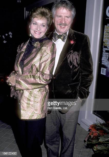 Actress Lee Meriwether and husband Marshall Borden attend the 'Party for Celebrity Focus Magazine' on December 2 1986 at Colubmia Bar and Grill in...