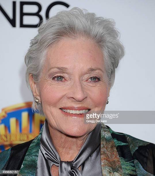 Actress Lee Meriwether arrives at the premiere of Warner Bros Television's Dolly Parton's Coat Of Many Colors at the Egyptian Theatre on December 2...
