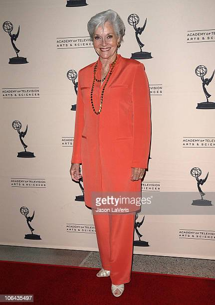 Actress Lee Meriwether attends Primetime TV Crimefighters at Leonard H Goldenson Theatre on November 1 2010 in North Hollywood California