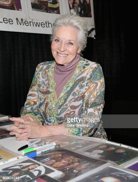 Actress Lee Meriwether attends the Amazing Las Vegas Comic Con at the Las Vegas Convention Center on June 24 2017 in Las Vegas Nevada