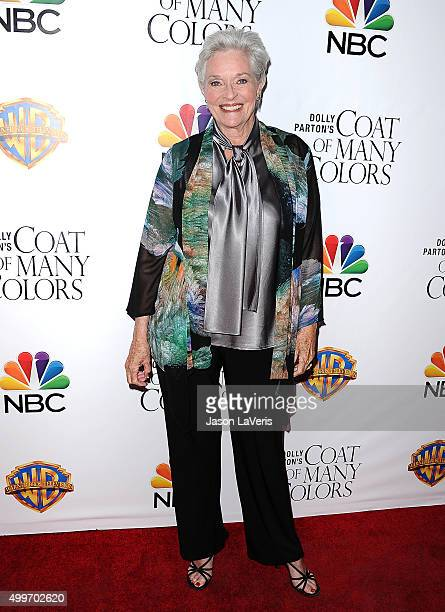 Actress Lee Meriwether attends the premiere of Dolly Parton's Coat Of Many Colors at the Egyptian Theatre on December 2 2015 in Hollywood California