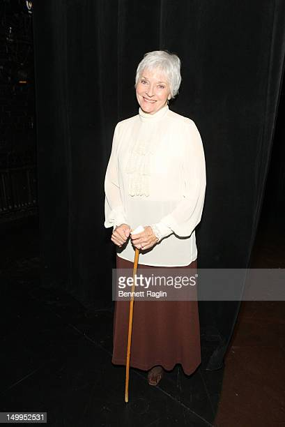Actress Lee Meriwether attends the press launch for FringeNYC 2012 at the New School for Drama on August 7 2012 in New York City