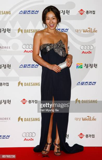 Actress Lee MiYun poses on the red carpet of the 29th Blue Dragon Film Awards at KBS Hall on November 20 2008 in Seoul South Korea