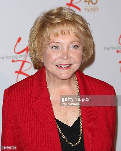 Actress Lee Phillip Bell attends The Young The Restless 40th anniversary cake cutting ceremony at CBS Television City on March 26 2013 in Los Angeles...