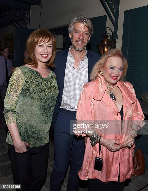 Actress Lee Purcell director Stephen Gaghan and actress Carol Connors attend TWCDimension Celebrates The Cast And Filmmakers Of Gold on November 9...