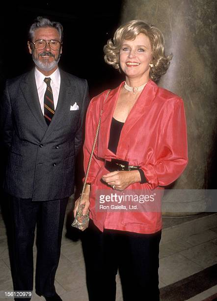 Actress Lee Remick and husband Kip Gowans attend the First Annual Vital Options Awards Honoring Linda Otto on June 13 1990 at Century Plaza Hotel in...