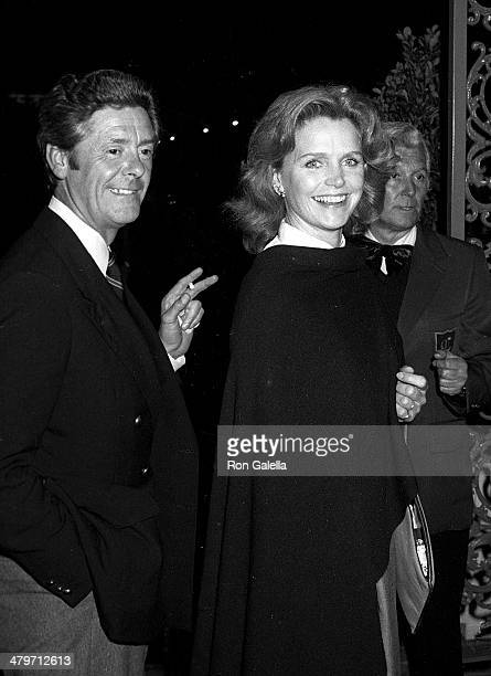 Actress Lee Remick and husband Kip Gowans attend the 'Superman II' WrapUp Party on April 23 1980 at Chasen's Restaurant in Beverly Hills California