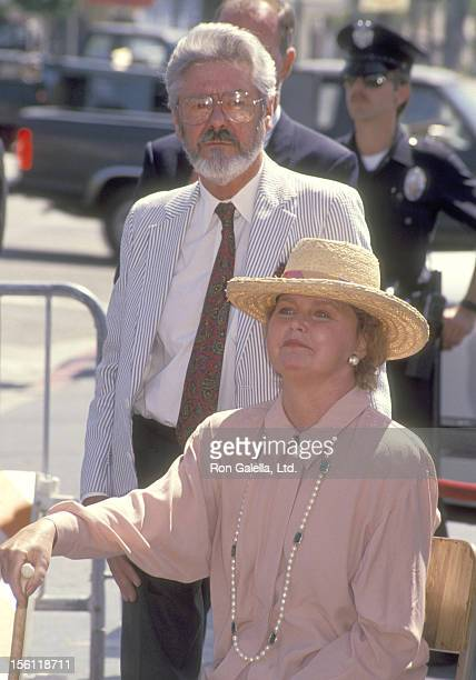 Actress Lee Remick and husband Kip Gowans the Hollywood Walk of Fame Star Ceremony Honoring Lee Remick on April 29 1991 at 6104 Hollywood Boulevard...