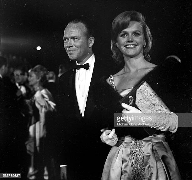 Actress Lee Remick and husband Television director Bill Colleran attend an event in Los AngelesCA