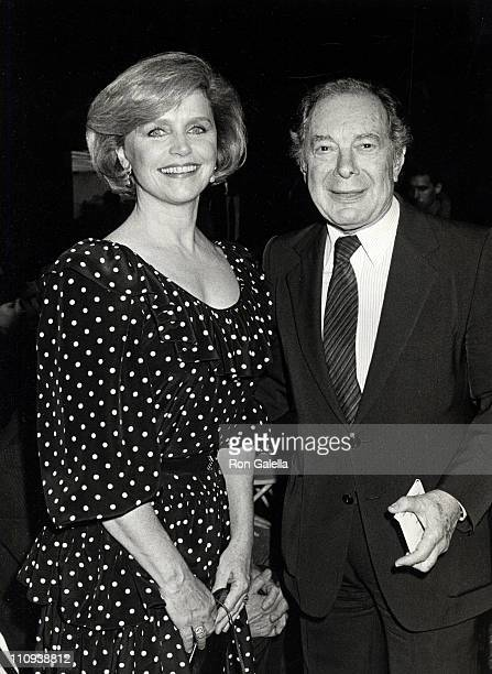 Actress Lee Remick and husband William Gowans attending 'DW Griffith Awards' on February 16 1988 at the Lincoln Center Library in New York City New...
