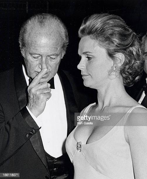 Actress Lee Remick attending 'Gala Honoring Alan Jay Lerner' on February 9 1969 at the Waldorf Astoria Hotel in New York City New York
