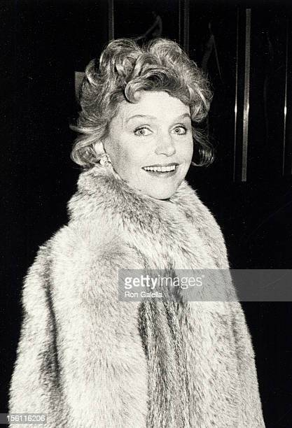 Actress Lee Remick attending the opening of '42nd Street' on February 10 1984 at the Shubert Theater in Century City California