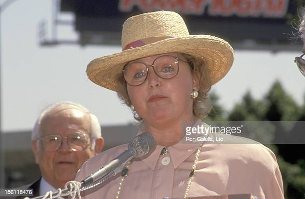 Actress Lee Remick attends the Hollywood Walk of Fame Star Ceremony Honoring Lee Remick on April 29 1991 at 6104 Hollywood Boulevard in Hollywood...