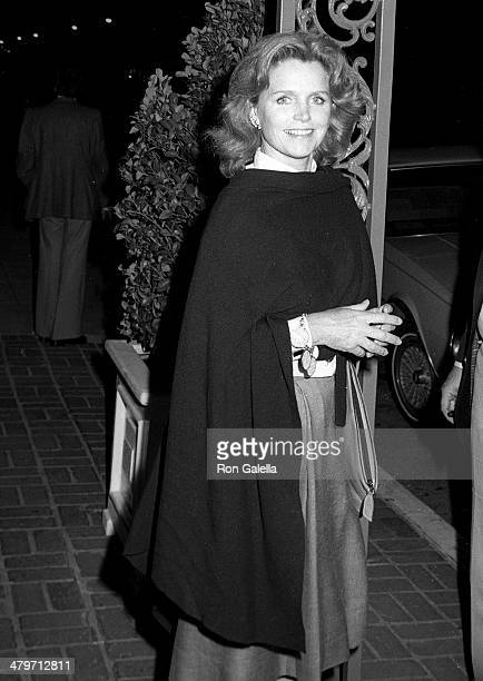 Actress Lee Remick attends the 'Superman II' WrapUp Party on April 23 1980 at Chasen's Restaurant in Beverly Hills California