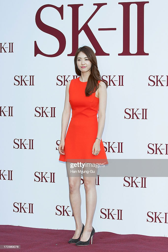 Actress Lee Yeon-Hee poses for the photogrpahs during the SK-II Honoring The Spirit Of Discovery event at the Raum on July 3, 2013 in Seoul, South Korea.