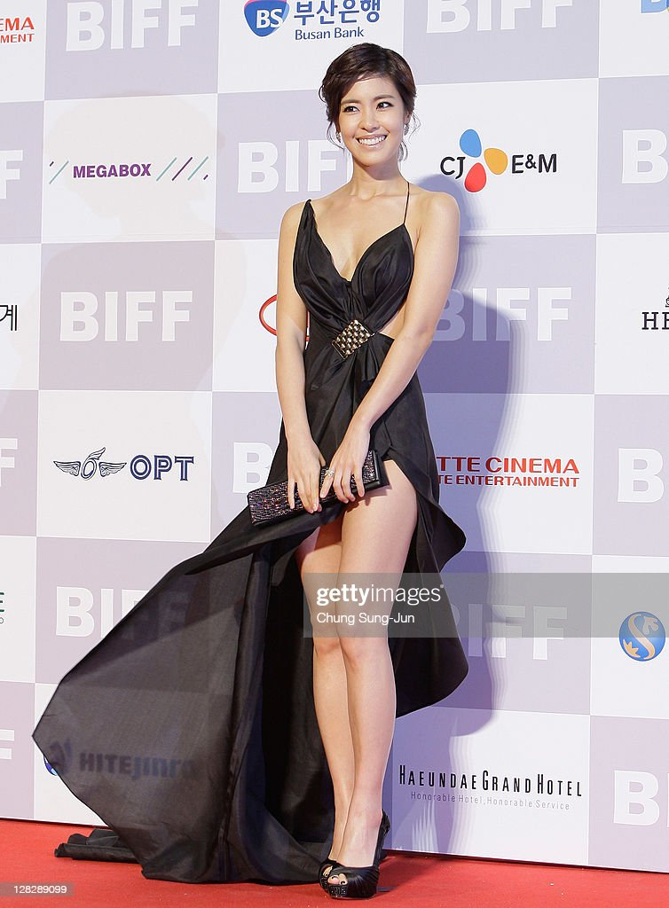 Actress Lee Yoon-Ji arrives for the opening ceremony of the 16th Busan International Film Festival (BIFF) at the Busan Cinema Center on October 6, 2011 in Busan, South Korea. The biggest film festival in Asia showcases 307 films from 70 countries and runs from October 6-14.