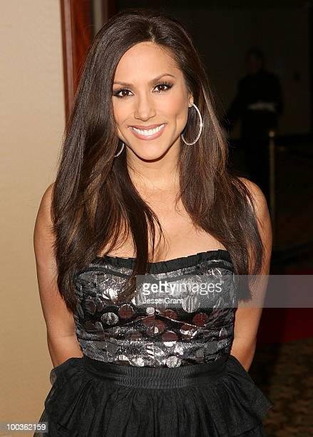 Actress Leeann Tweeden arrives at the 25th anniversary of CedarsSinai Sports Spectacular at the Hyatt Regency Century Plaza on May 23 2010 in Century...