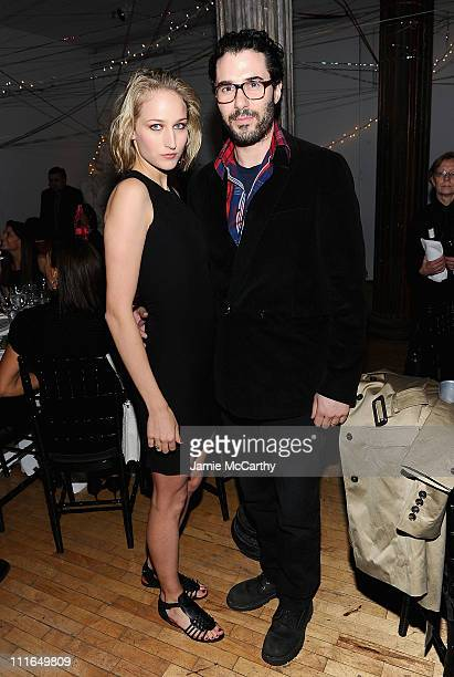 Actress Leelee Sobieski and Adam Kimmel attend the Tribeca Ball 2011 at the New York Academy of Art on April 4 2011 in New York City