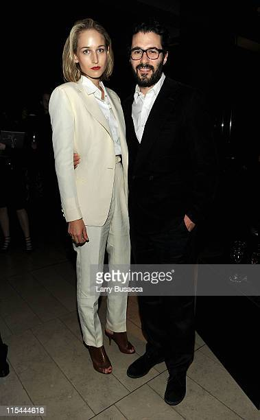 Actress Leelee Sobieski and designer Adam Kimmel attend a supper following the 2011 CFDA Fashion Awards at Alice Tully Hall Lincoln Center on June 6...