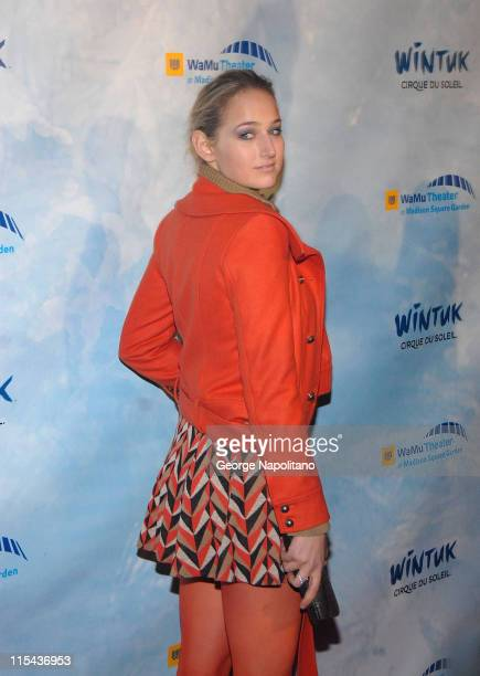Actress Leelee Sobieski at the World Premiere Of Wintuk Cirque du Soleil at the WaMu Theater in Madison Square Garden in New York City on November 7...