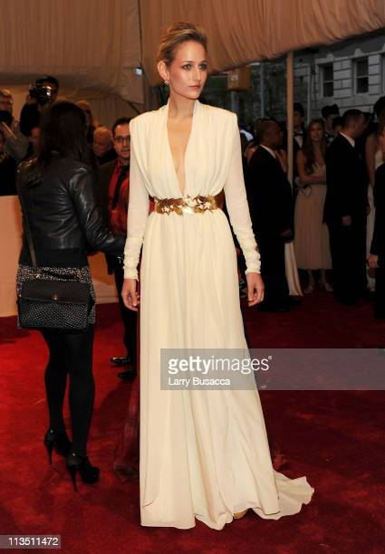 Actress Leelee Sobieski attends the Alexander McQueen Savage Beauty Costume Institute Gala at The Metropolitan Museum of Art on May 2 2011 in New...
