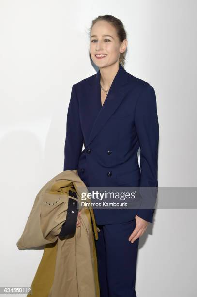 Actress Leelee Sobieski attends the Calvin Klein Collection Front Row during New York Fashion Week on February 10 2017 in New York City