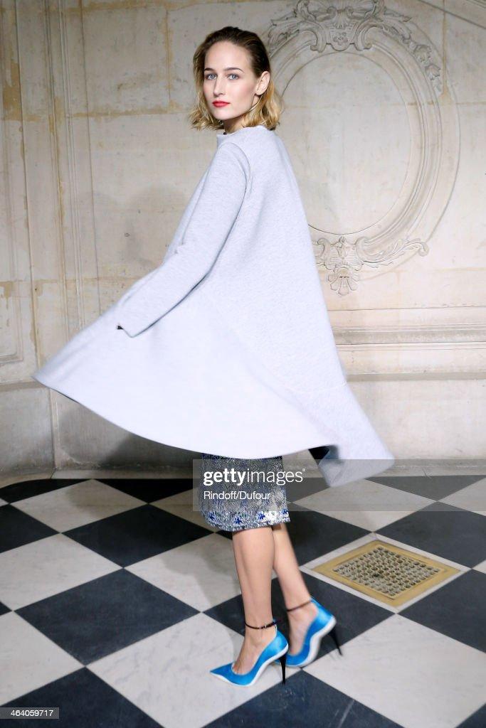 Christian Dior : Front Row - Paris Fashion Week - Haute Couture S/S 2014