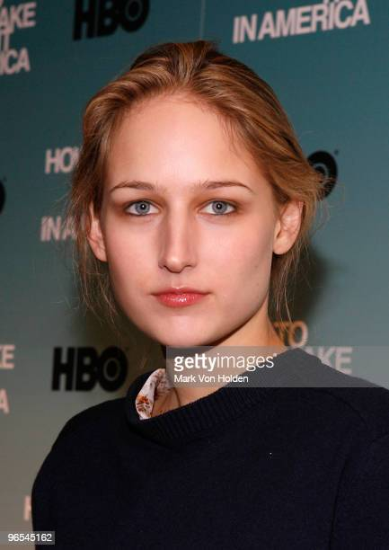 Actress Leelee Sobieski attends the Cinema Society HBO screening of 'How To Make It In America' at Landmark's Sunshine Cinema on February 9 2010 in...