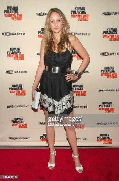 Actress Leelee Sobieski attends the HBO Documentaries premiere Of Roman Polanski Wanted And Desired at The Paris Thatre in New York City on May 6 2008