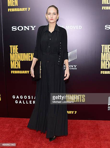 Actress Leelee Sobieski attends 'The Monuments Men' premiere at Ziegfeld Theater on February 4 2014 in New York City New York