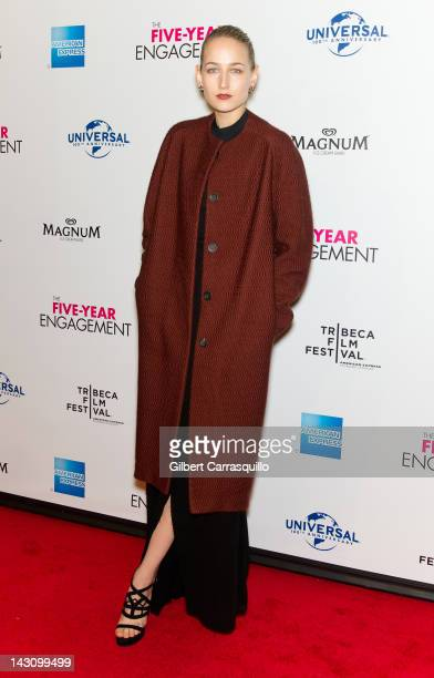 """Actress Leelee Sobieski attends the premiere of """"The Five Year Engagement during the 12 Tribeca Film Festival at the Ziegfeld Theatre on April 18,..."""
