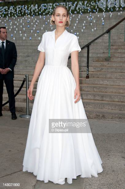Actress Leelee Sobieski attends the Vanity Fair party during the 2012 Tribeca Film Festival at the State Supreme Courthouse on April 17, 2012 in New...