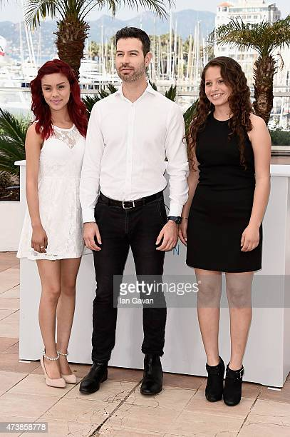 Actress Leidi Gutierrez director David Pablos and actress Nancy Talamantes attend the Las Elegidas Photocall during the 68th annual Cannes Film...